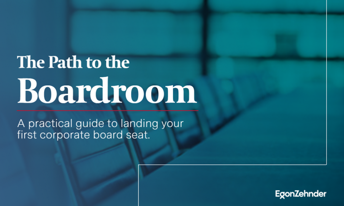 The Path to the Boardroom