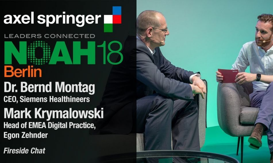Mark Krymalowski Fireside Chat with Dr. Bernd Montag, CEO, Siemens Healthineers