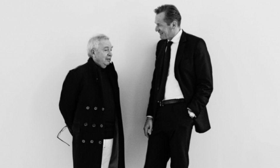 Meisterarchitekt Sir David Chipperfield und Verleger Mathias Döpfner diskutieren den Einfluss der Architektur als Ausdruck von Gesellschafts- und Unternehmenskultur.