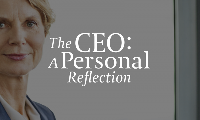 The CEO: A Personal Reflection