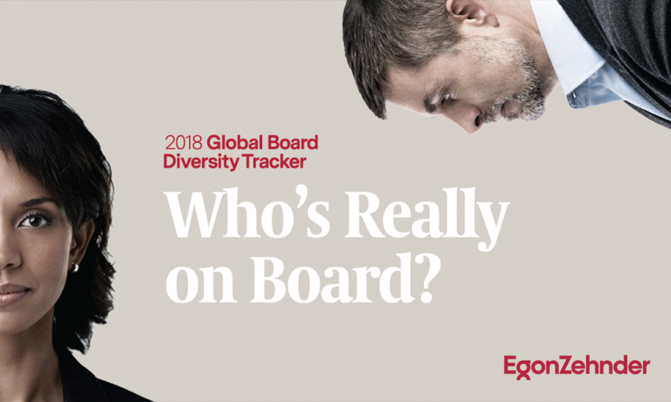 Egon Zehnder Global Board Diversity Tracker Suggests Gender Parity in the Boardroom May Never Be Achieved