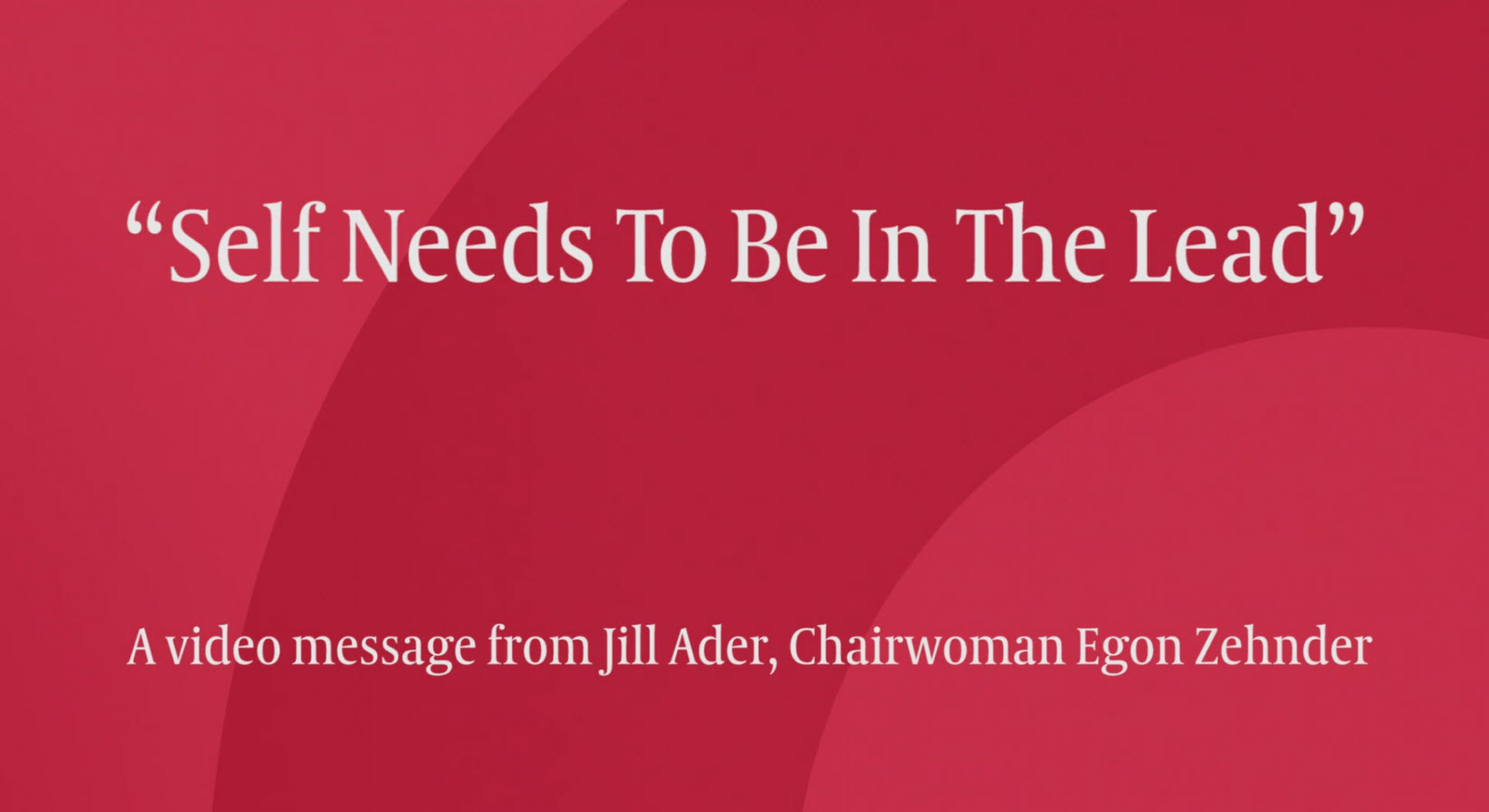 Watch Chairwoman Jill Ader's message to leaders