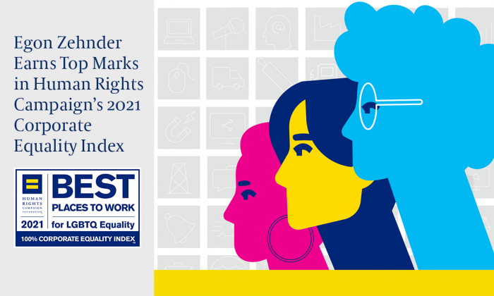 Egon Zehnder Earns Top Marks in Human Rights Campaign's 2021 Corporate Equality Index