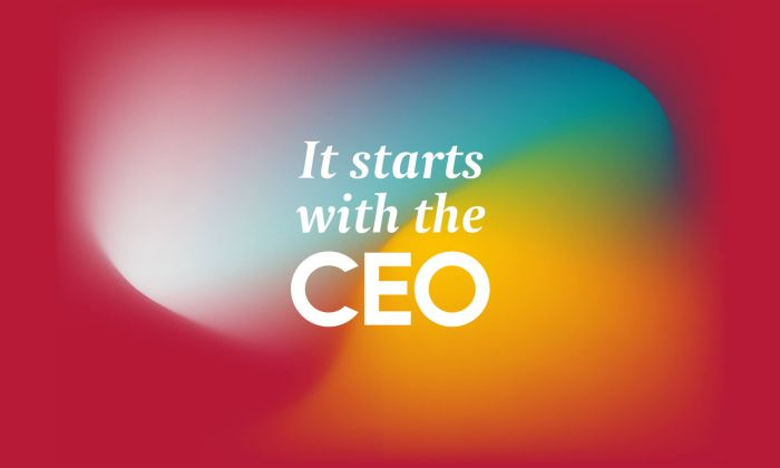 It starts with the CEO