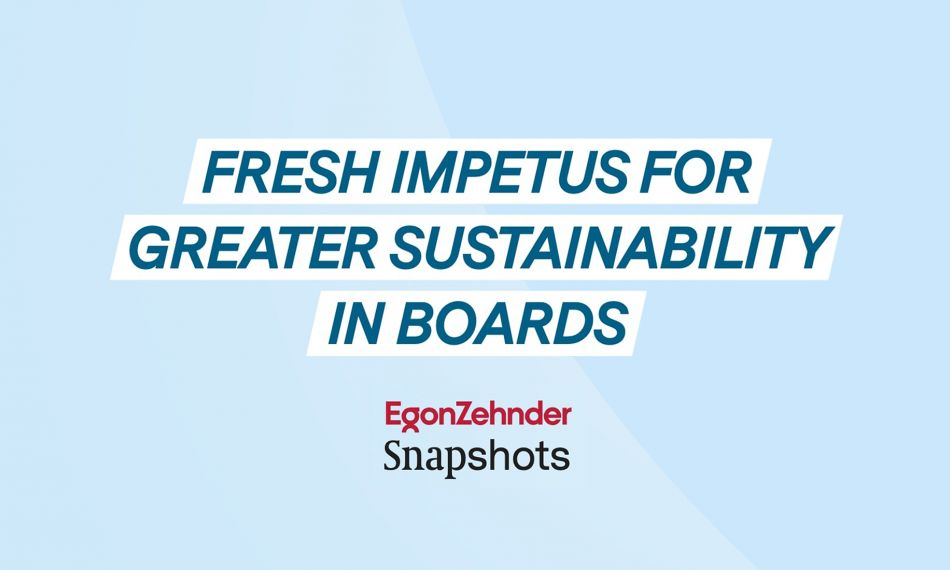 Egon Zehnder Snapshot on a sustainability study of European Boards
